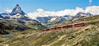 Swiss Mountains and the Gotthard Panoramic Express