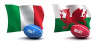 6 Nations - Italy v Wales - Rome 9 Days